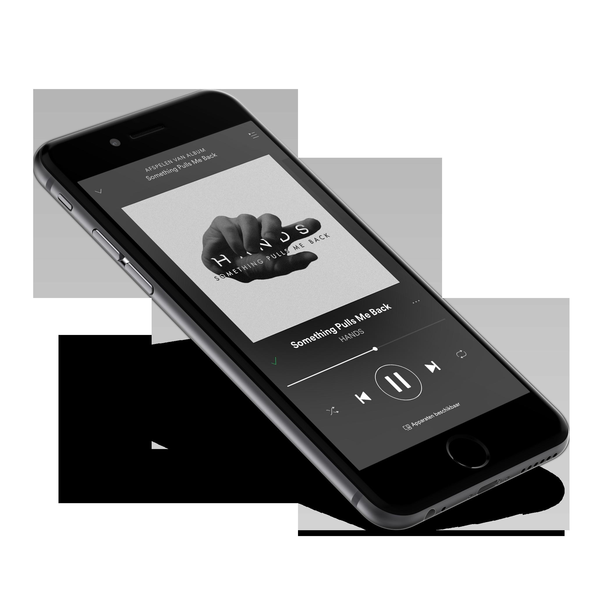 HANDS - Spotify iPhone Mockup - Something Pulls Me Back Artwork