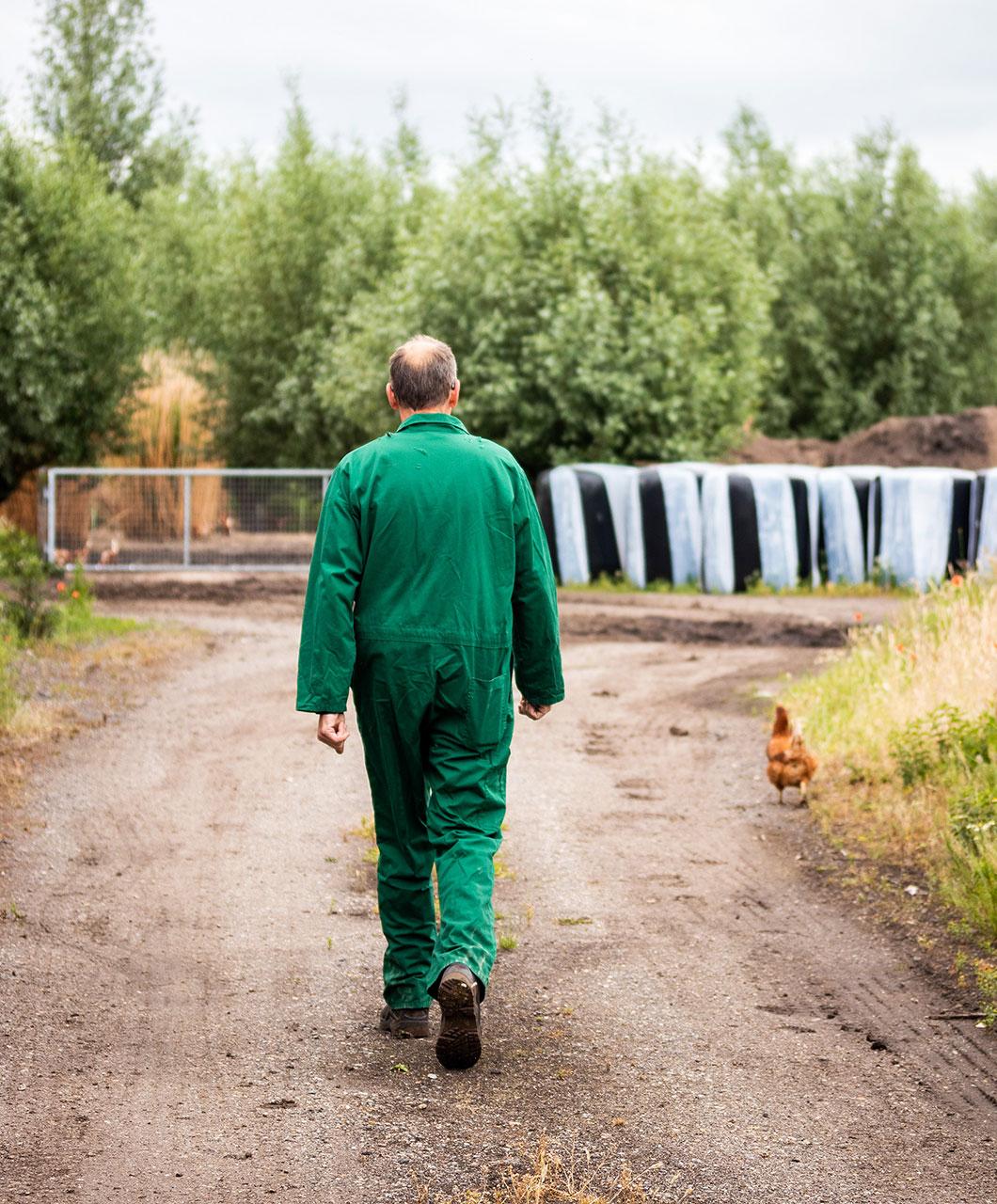 Uit Veluwe - Fotografie - De Lankerenhof - Boer en kip