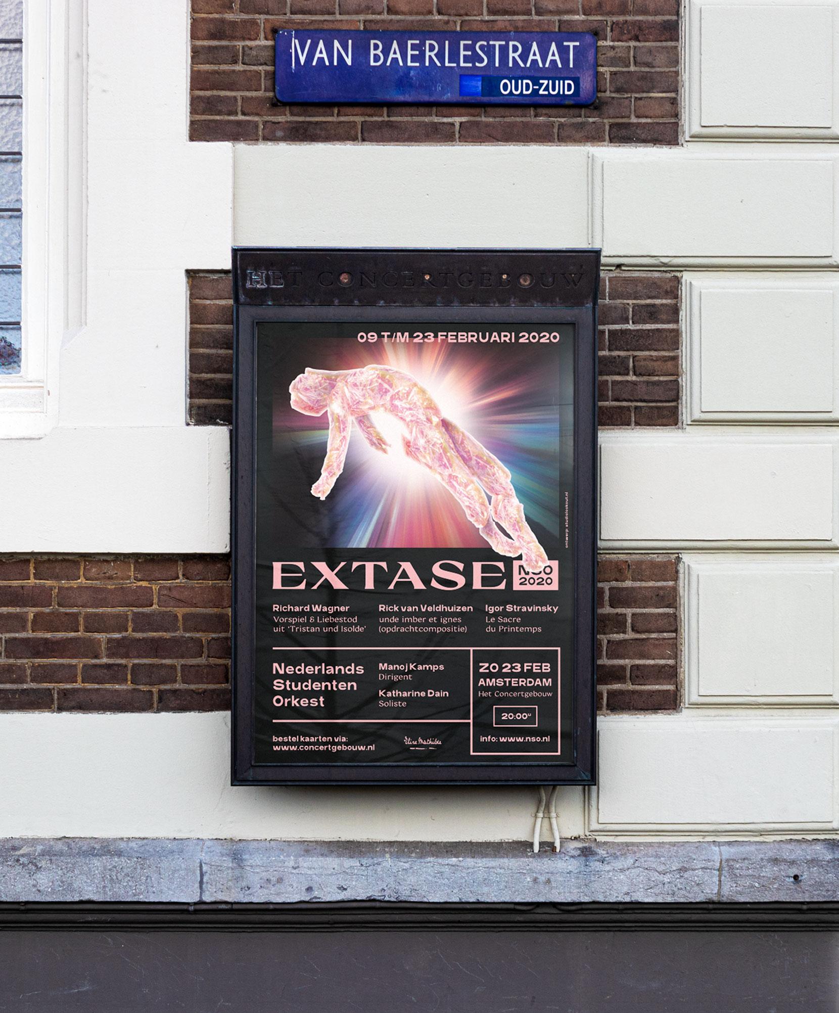 Nederlands Studenten Orkest 2020 - Extase - Tourposter Concertgebouw Amsterdam