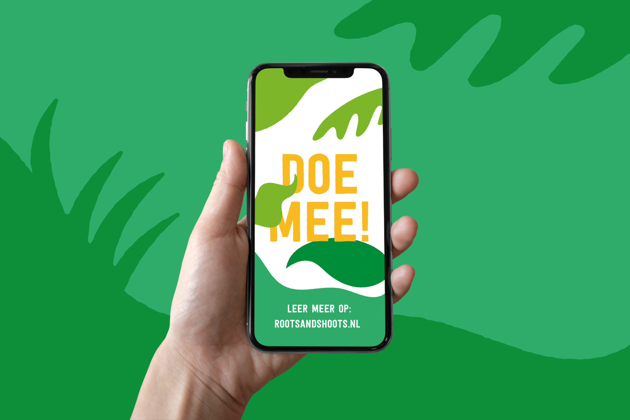 Roots and Shoots - Doe Mee! - iPhone mockup 1